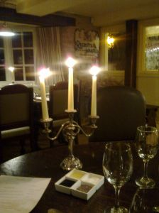 Inside the Exeter Arms restaurant