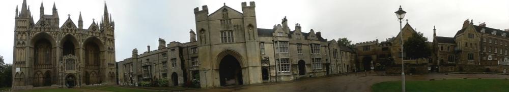 Peterborough Cathedral Precincts panorama