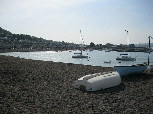Teignmouth beach looking across to Shaldon