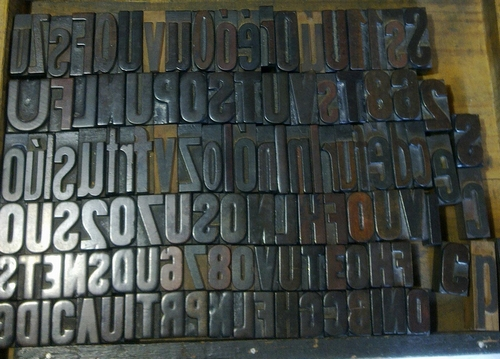 Movable type spotted at a Barcelona market